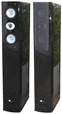 Pure Acoustics Standlautsprecher DREAM 77 F pianolack schwarz (Paar)