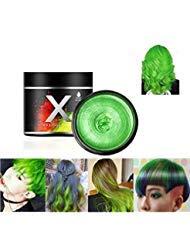 Haarfarbe Wachs, einmalige temporäre Modellierung natürliche Farbe Haarfärbemittel Wachs, temporäre Frisur Creme, Styling-Wachs für Party, Cosplay, Party, Maskerade, Nachtclub, Halloween (Grün)