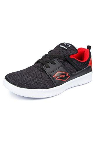 Lotto Men's Black/ Red Running Shoes - 7 UK/India (41 EU)