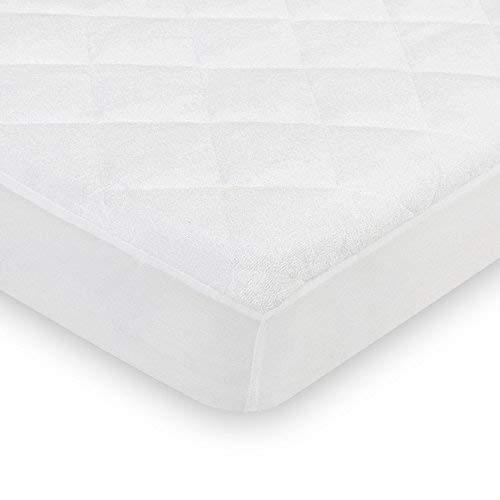 HOMFA Spannbetttuch 70x140cm - wasserdicht für Babybetten und Kinderbetten, Spannbettlaken 70x140 Atmungsaktiv, Anti-Allergisch aus Bambusfaser gegen Milben und Schimmel