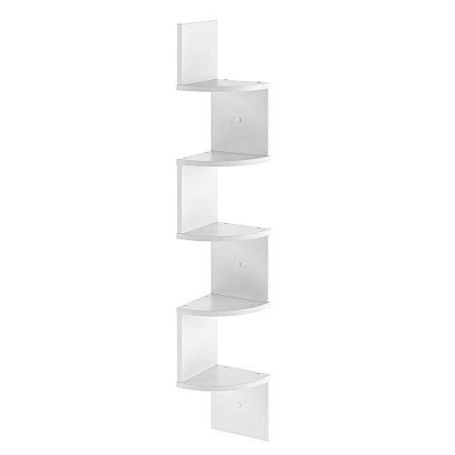 VICCO Eckregal SNAKE - Hängeregal Wandregal Bücherregal Regal Design (Weiß) (Weiße Wand Regale)