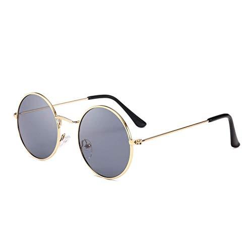 FERZA Home Männer Frauen Runde Metallrahmen Sonnenbrille Kreis Harz Objektiv UV Schutz Eyewears Unisex Frauen Männliche Sonnenbrille
