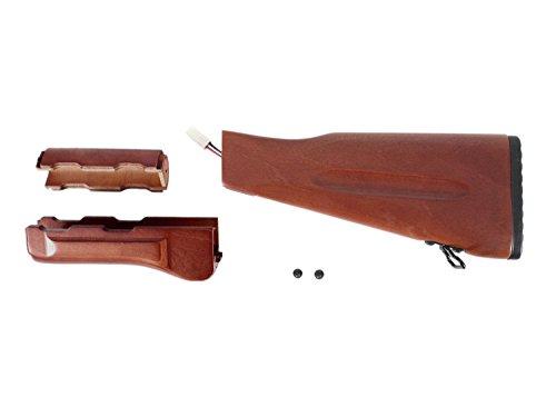 ICS Airsoft IK / AK 74 Wood Kit, 3teilig, inkl. Zubehör - aus Echtholz [MK-75] -
