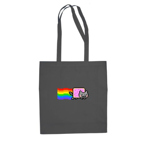 Kostüm Cat Nyan (Nyan Cat - Stofftasche / Beutel, Farbe:)