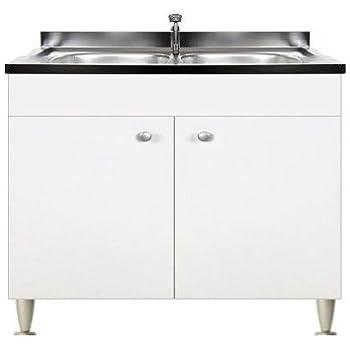 Mobile cucina 3 ante completo di lavello inox 120 componibile ...