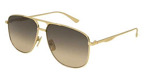 Gucci Sonnenbrillen GG0336S GOLD/BROWN SHADED Herrenbrillen