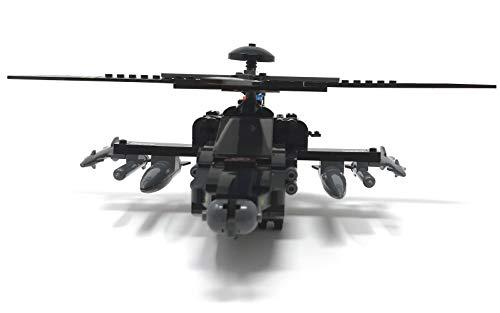 Modbrix 1484020 – ★ Bausteine Apache AH-64 Kampf Hubschrauber mit LED Beleuchtung & Sound inkl. custom US ARMY Special Forces Soldaten aus original Lego© Teilen ★ - 6