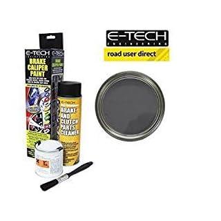 E-Tech Brake Caliper Paint - GRAPHITE - Complete Kit Inc Paint/Cleaner & Brush