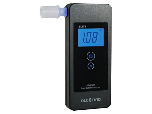 ALCOFIND ELITE - ALCOHOLIMETRO DIGITAL SENSOR ELECTROQUIMICO PANTALLA LED PORTATIL + ACCESORIOS
