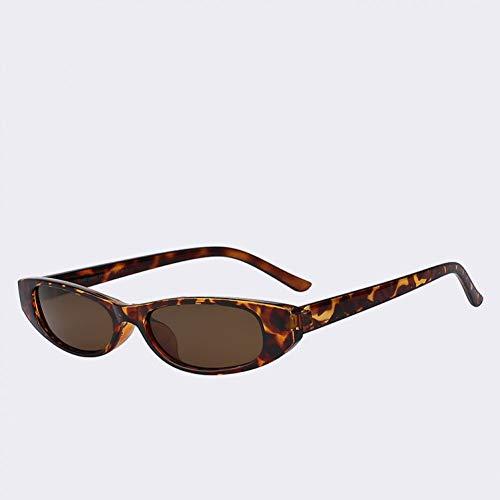 TIANKON Vintage kleine Cateye Sonnenbrille Frauen Markendesigner Cateyes Retro kleine Damen Sonnenbrille,Leopard w braun
