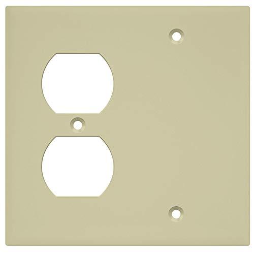 Standard-duplex-wand (enerlites 880121-i Objektbereich blanko/Duplex-, Standard Größe, unzerbrechlichem Polycarbonat, elfenbeinfarben)