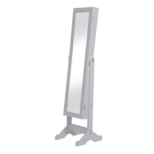 Espejo de Pie 144x34x37cm + Joyero Integrado Organizador Joyas para Dormitorio