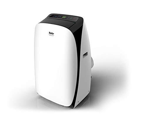 Fakir AC 9 Prestige / mobiles Klimagerät, Luftentfeuchter, Klimaanlage für Wohnung, Raumklima-Gerät, Heizlüfter, inkl. Display & Temperatursensor - 1.0 kW weiß/schwarz