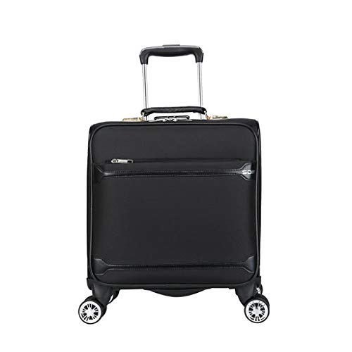 Business trolley case, Estuche de Viaje, Estuche para computadora de embarque, Maleta, Estuche para Equipaje, Impermeable, Caster Universal – Elegante @Greawei (Color : Negro)
