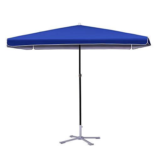 Sonnenschirme Gartenschirm Blauer Rechteckiger Patio Markt-Art-Regenschirm Im Freien, Vervollkommnen Für Balkontisch-Terrasse-Garten-Plattform-Yard-Schatten Oder Pool-Seite (Markt Sonnenschirm Blau)
