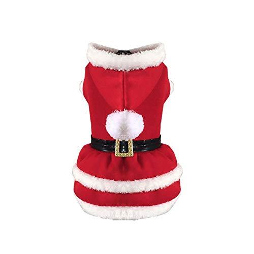 BAONUAN Haustier Kleidung Kleidung Für Hunde Bekleidung Hund Kostüm Kleidung Hund Weihnachten Santa Suit, S
