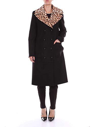 Blumarine Damen 26162103 Schwarz Wolle Mantel