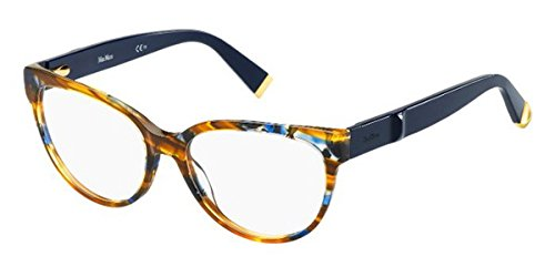 max-mara-mm-1249-cat-eye-acetato-donna-striped-blue-havana-dark-bluemci-55-17-140