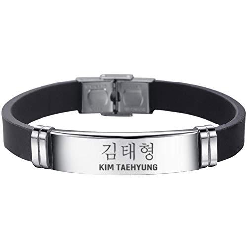 Yovvin BTS Armband | Unisex Kpop Bangtan Jungen Jungkook, Jimin, V, Suga, Jin, J-Hope, Rap Monster Armkette Armreif The Army (B - Kim TAEHYUNG)