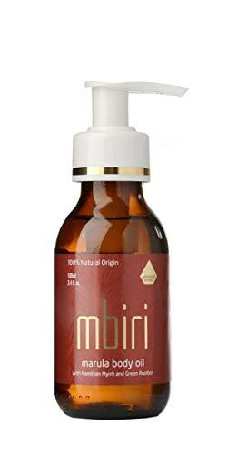 Mbiri Marula Körperöl, Naturkosmetik Gesichtsöl & Körperöl, Bio Body Öl für trockene Haut, vegan, (1 x 100 ml) - Duftstoffe Feuchtigkeitsspendende Body Lotion