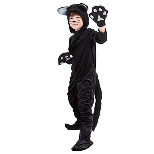 Für Katze Kostüm Kleinkind Schwarze - HBOS Schwarz Katzen kostüm Schlafanzug für Kinder Cosplay Kostüm Zum Karneval Fasching