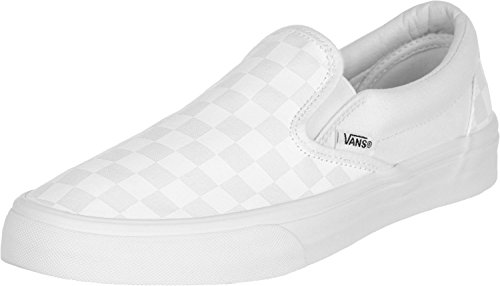 Vans U CLASSIC SLIP-ON, Sneaker Unisex Adulto, Bianco (True White/True White Checkerboard), 37