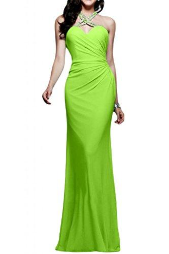 Toscana sposa Glamour Mermaid Chiffon Rueckenfrei Bete un'ampia vestimento per una serata Party ball vestimento Verde