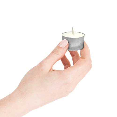 ARVO Tealight Candles White Unscented 6-8 Hour Burn Time Wax Candles Pack of 20