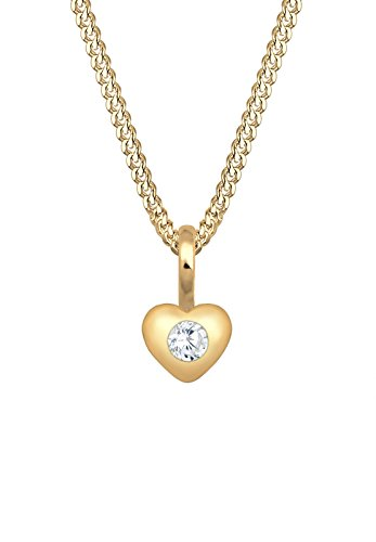 Elli Premium Damen Halskette Kinder Herz Geburt Taufe 585 Gelbgold Zirkonia 0109582717_36
