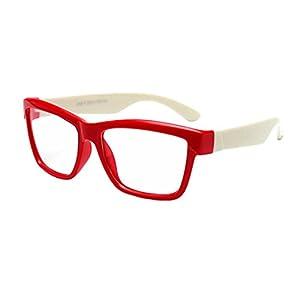 Hibote Mädchen Junge Brillen – Silikon – Clear Lens Glasses Frame Geek/Nerd Brillen mit Car Shape Gläser Fall – 18071006