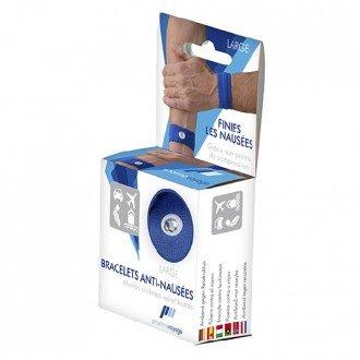 Bracelets Anti Nausées - 1 Paire Taille Large - Bleu