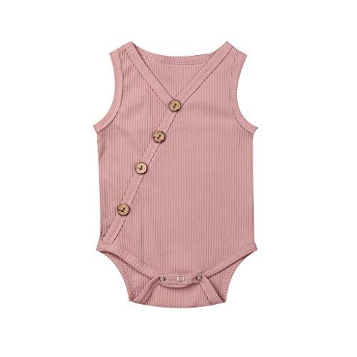 Mutter & Kinder Overalls Mode Kind Baby Mädchen Regenbogen Streifen Ärmelloses Baumwolle Romper Overall Overall Overalls Breite Bein Hosen Kleidung 1-6y ZuverläSsige Leistung