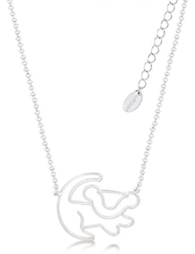 Disney Couture Mini Lion King weiß vergoldete Simba Outline Halskette
