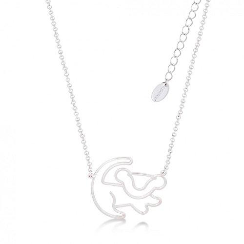 """Disney–Collar chapado en oro blanco con una miniatura del perfil de Simba de """"El rey león"""""""