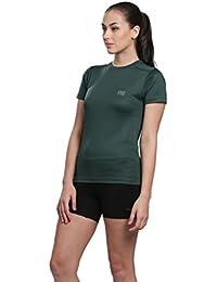 31dbdd90 Silvertraq Women's Running/ Training Short-Sleeve Fitted T-Shirt