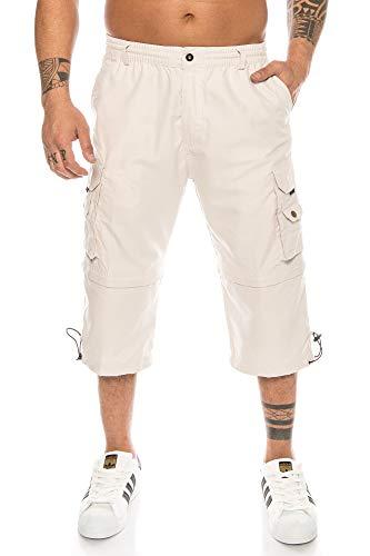Kendindza Herren Bermuda | abnehmbare Beine Zipp-Off von 3/4 in Kurze Hose (Beige, XXXL)