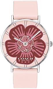 Coach Women'S Pink Dial Pink Calfskin Watch - 1450