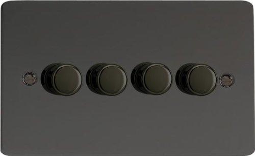 Varilight, iridio nero, ultra piatto, LED dimmer