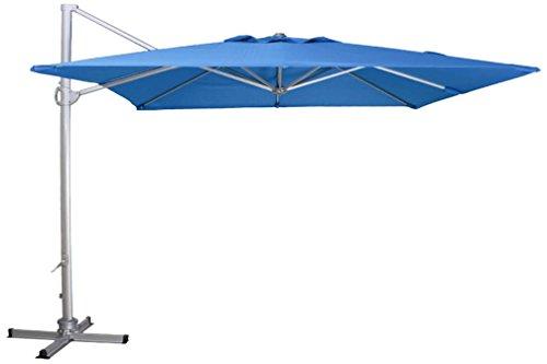 Siena Garden Ampelschirm Davos, 300x300cm, Gestell: Aluminium, pulverbeschichtet in silber, Bezug: Polyester, 250g/m² in petrol, Lichtschutzfaktor: UPF 50+