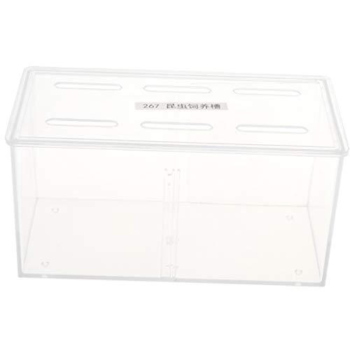 F Fityle Kunststoff Reptilienbehälter Insektenbox Reptilien Transportbox Allzweckbehälter für Reptilien, Amphibien, Mäuse und Insekten