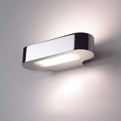 CCSUN E40 Wandleuchte Bett, Kabinett spiegelbeleuchtung Kreativ Modren Wandleuchten Beleuchtungen-befestigung Für Schlafzimmer Badezimmer-L:120cm(47.2in) Silber -