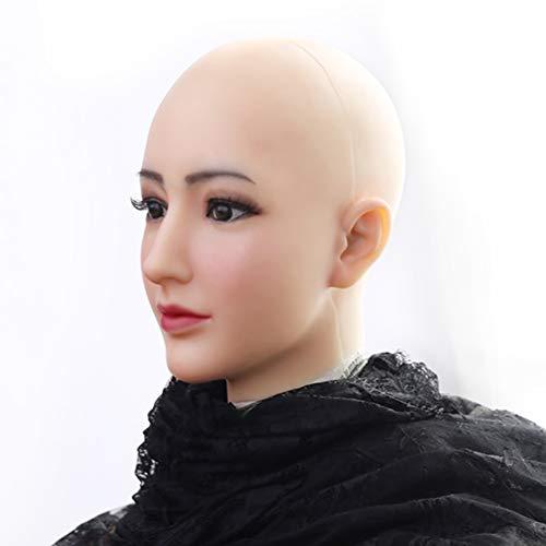 HSNC Crossdresser Realistische Silikon Maske Engelsgesicht Weibliche Masken Halloween Masken Cosplay Männlich Zu Weiblich für Transgender Shemale