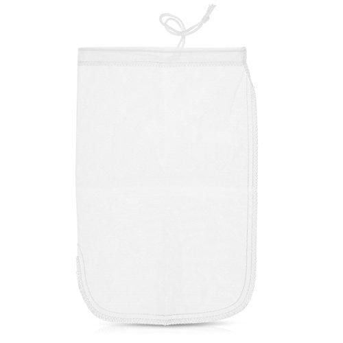Navaris Nussmilchbeutel Passiertuch 20 x 30cm - feinmaschiges Seiher Küchensieb für z. B. vegane Nussmilch Mandelmilch Joghurt - Feinsieb aus Nylon