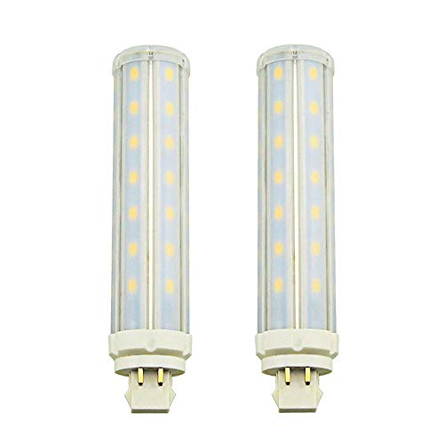 LuxVista 13W GX24Q LED Maislampe 4-Pin Kühlweiß 6000K 360 Grad Plug-In Lampe Ersatz für Leuchtstofflampen PL Horizontale Einbauleuchte Glühbirne 2-Stück (Entfernen/umgehen Sie den Ballast) - Pl Pendelleuchten