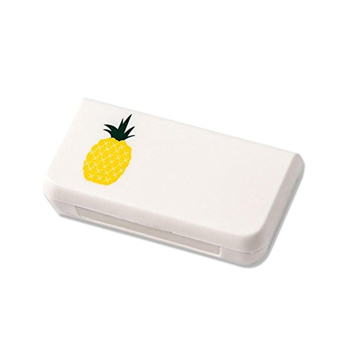 Falliback Pillendose Tragbare 3-Grid Mini teilbar Pillen Tabletten Box Pillbox Tablettenboxen Pillendosen Pillendispenser Medizin Box Pille Reise Box Pille Container 6.5 * 3.4 * 1.4cm(D)