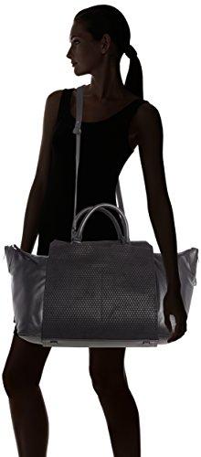 Liebeskind BerlinNagano2 hexago - Borsa shopper Donna Nero (Schwarz (ninja black 9998))