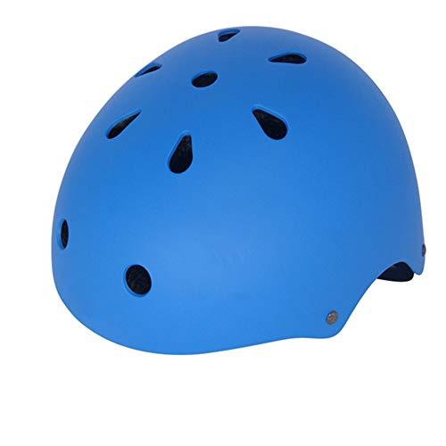 Kinderhelm Skating Skateboard Helm Klettern Drifting Helm Plum Blossom Helm Outdoor Supplies Hochwertige Innenkissen Schön und Komfortabel,Blue