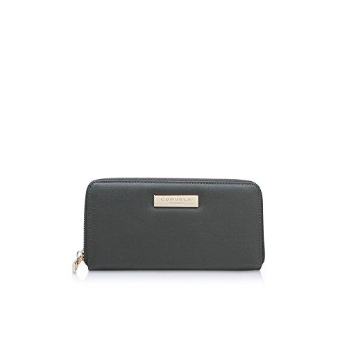 Carvela Damen Alis2 Zip Wallet Geldbörse, Grün (Khaki), 15x10x19 cm