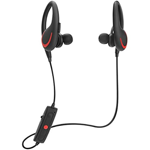 Tenswall TW-S6 Auriculares Deportivos Bluetooth In-ear Estéreo para Correr Gym con Mic Compatible con iPhone 6s 6 Plus 5s SE, Samsung Galaxy S6 S5 S4, IOS & Andriod