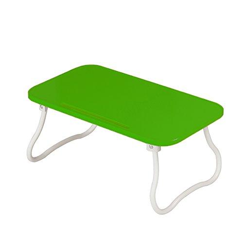 XINKONG Tisches Klappbarer Tisch des Schlafsaal-Computers der Kinder (Color : Green) (Weißes Podest, Beistelltisch)